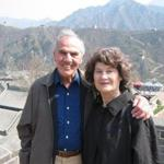The author and his wife, Dorothy, at the Great Wall a few years ago.